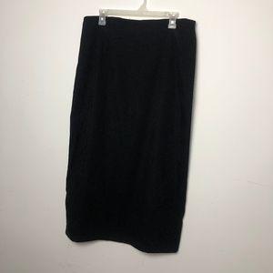 Briggs New York Size 16 Black Velour Modest Skirt